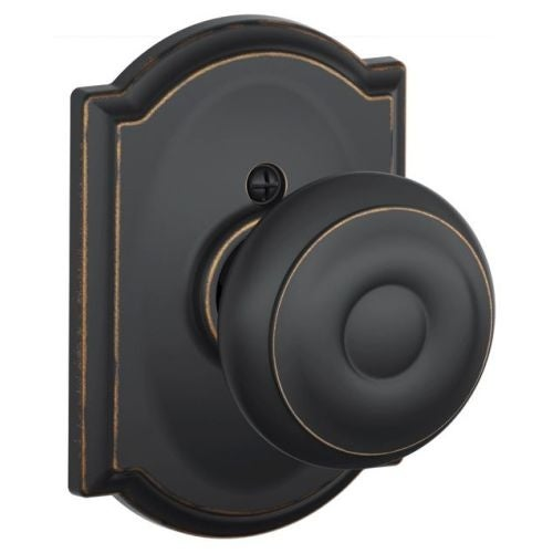 Schlage F170 GEO CAM Single Dummy Georgian Door Knob With The Decorative  Camelot Rose   Free Shipping On Orders Over $45   Overstock.com   22465507