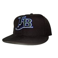 New Era Tampa Bay Rays Wool Alternate Fitted Cap - Black (Size 6 7/8)