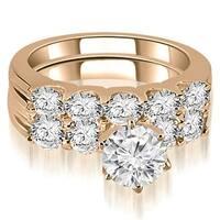 2.15 cttw. 14K Rose Gold Round Cut Diamond Bridal Set (I1, H-I)