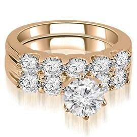 2.25 cttw. 14K Rose Gold Round Cut Diamond Bridal Set