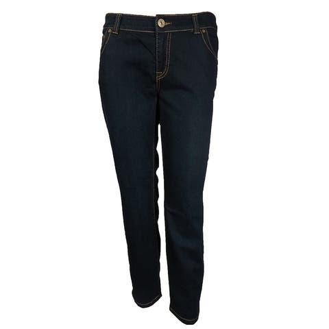 INC Women's Skinny Leg Curvy Fit Pants - Indigo - 0P