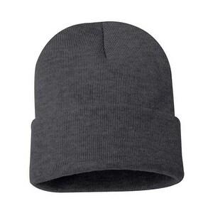Sportsman 12 Inch Knit Beanie - Charcoal - One Size