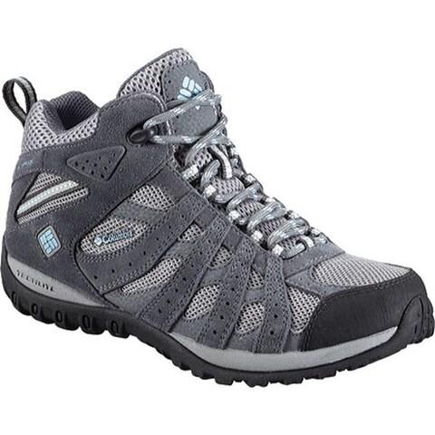 Columbia Women's Redmond Mid Waterproof Hiking Boot Light Grey/Blue Sky