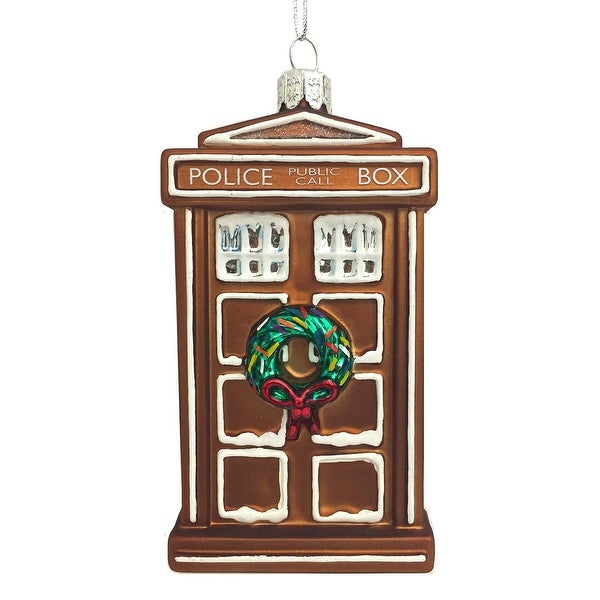 """Doctor Who Gingerbread TARDIS 4.5"""" Ornament"""