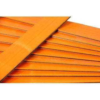 25 Orange Wooden Straight Edges with Metal Strips Office Supplies - 12""