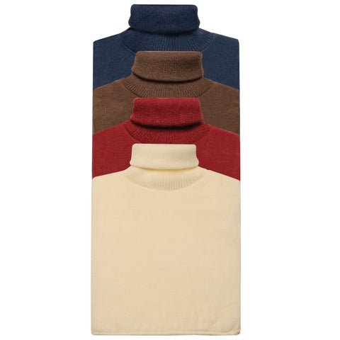 Unisex Turtleneck Dickies - 4 Pack Mock Turtlenecks - One size