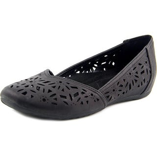 Easy Street Charlize Women Round Toe Synthetic Black Flats