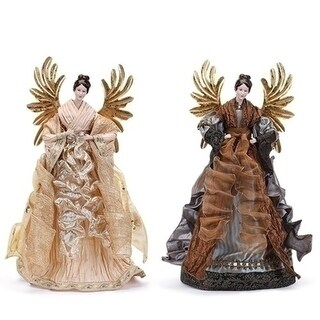 """20"""" Ivory Angel with Gold Wings Tree Topper"""