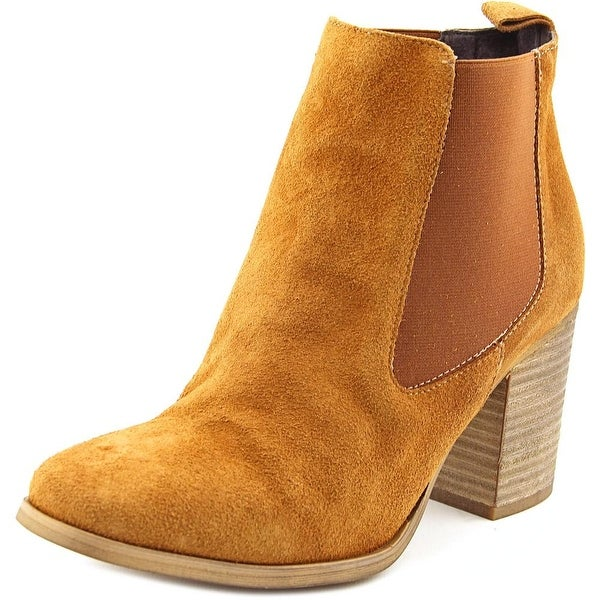 Coolway Lucille Women Round Toe Suede Brown Ankle Boot