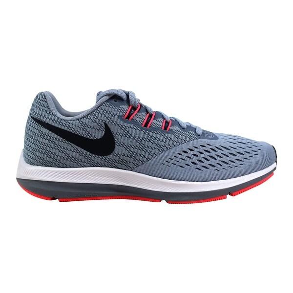 15d88d74d453 Shop Nike Zoom Winflo 4 Glacier Grey Obsidian Women s 898485-002 ...