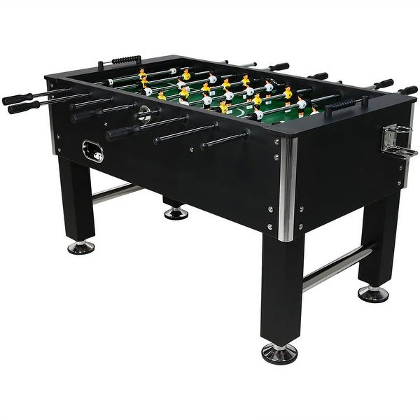 Sunnydaze 55-Inch Foosball Game Table with Drink Holders - Sports Arcade Soccer