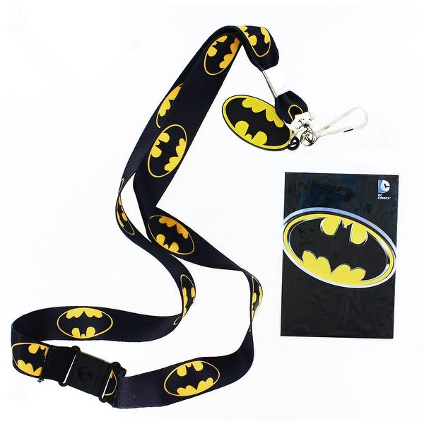 Batman Lanyard with Logo Charm - Multi