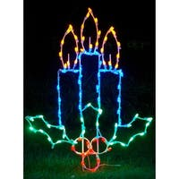 Christmas at Winterland WL-GM109-LED LED Light Candles with Holly - MultiColor - N/A