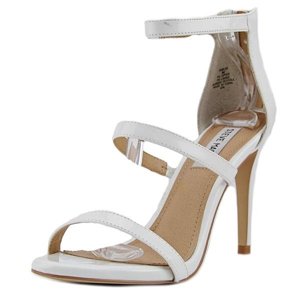 Steve Madden Feelya Women Open Toe Synthetic White Sandals
