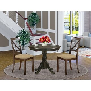 Link to 3 Piece Kitchen Set - Round Kitchen Table and 2 Dining Chairs in Cappuccino Finish (Pieces Option) Similar Items in Dining Room & Bar Furniture