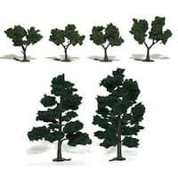 "Woodland Scenics - Ready Made Realistic Trees - 5"" - 6"" Dark Green (2/Pkg.)"