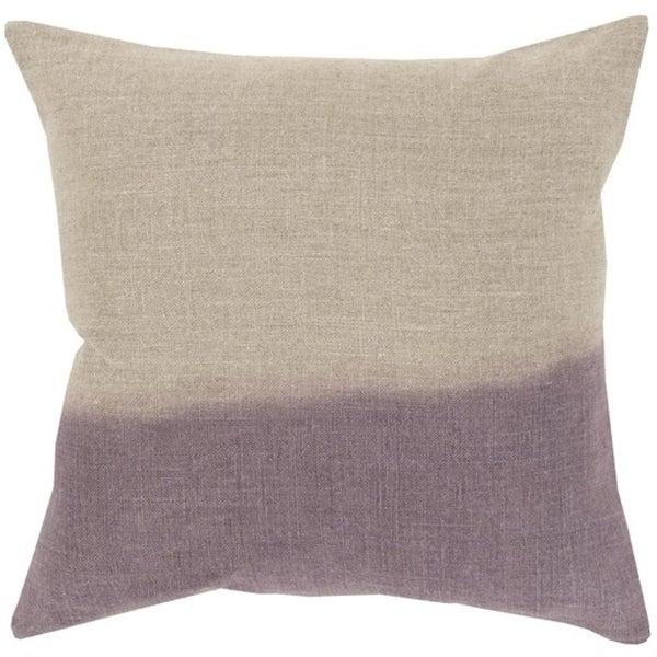 "20"" Lavender Purple and Gray Dip Dyed Decorative Throw Pillow - Down Filler"