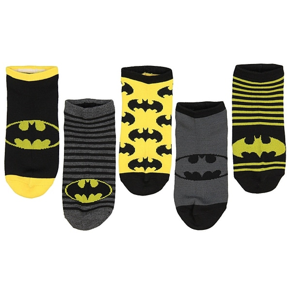 DC Comics Adult 5 Pack Batman Socks - Ankle (9-11)