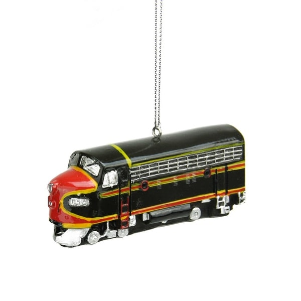 """3.5"""" Brown and Red Classic Locomotive Train Replica Christmas Ornament"""