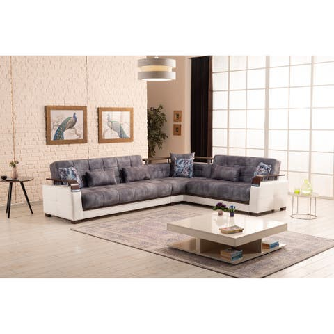 Regina Sectional Lght Grey