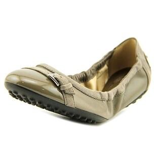 Tod's Ballerina Dee Fibbietta Women Round Toe Leather Gray Flats