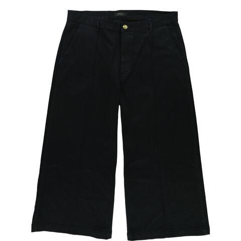 Ralph Lauren Womens Cropped Wide Leg Jeans, Blue, 32