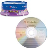 Verbatim 95484 Dvd+R Dl Azo 8.5Gb Double Layer Recordable Disc, 15-Disc Spindle