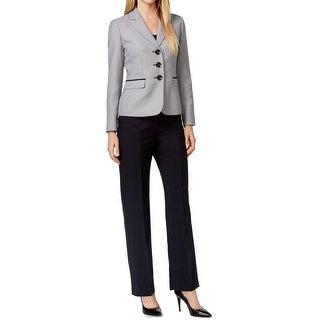 Le Suit NEW Black White Women's Size 14X31 Pant Suit Printed Set