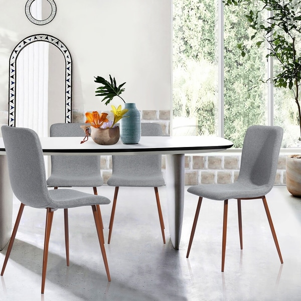 Carson Carrington Mid-Century Modern Upholstered Dining Chairs (Set of 4). Opens flyout.