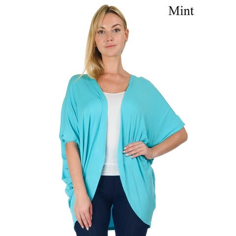Simply Ravishing Women's Dolman Half Sleeve Open Cardigan (Size: S- 5X)