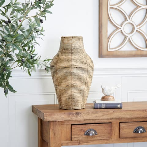 Brown Metal Coastal Style Vase 18 x 10 x 10 - 10 x 10 x 18