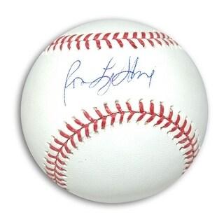 Autographed Ron LeFlore MLB Baseball