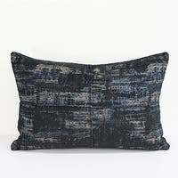"G Home Collection Luxury Blue Mix Color Metallic Chenille Pillow 14""X20"""