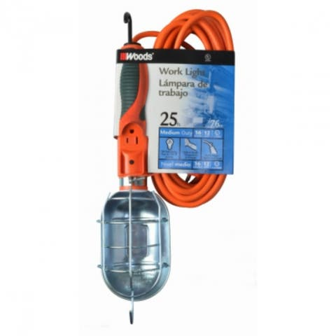 Woods 0691 Trouble Light, Orange, 75 Watt