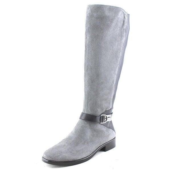 Aerosoles Ring Dish Women  Round Toe Suede Gray Knee High Boot