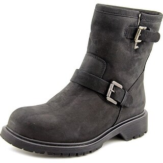 La Canadienne Hayes Women  Round Toe Leather Black Boot