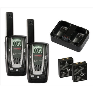 89c718dc3fb Shop COBRA CXR725 27 Mile 22 Channel FRS GMRS Walkie Talkie 2-Way Radios - 2  Pack Manufacturer Refurbished - Free Shipping On Orders Over  45 -  Overstock - ...