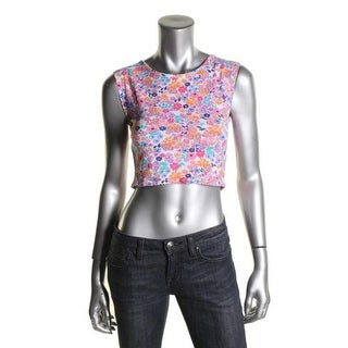 I'm in love with Derek Womens Juniors Crop Top Knit Floral Print - M