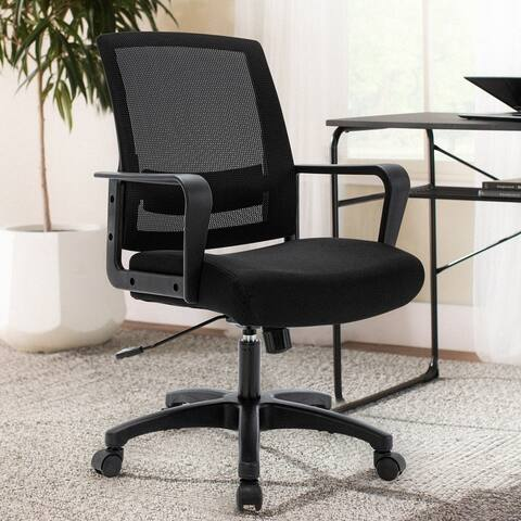 ICOMOCH Mid Back Swivel Ergonomic Mesh Task Chair
