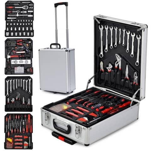 799pcs Aluminum Organizer Tools Mechanic Kit Box Case Toolbox Trolley