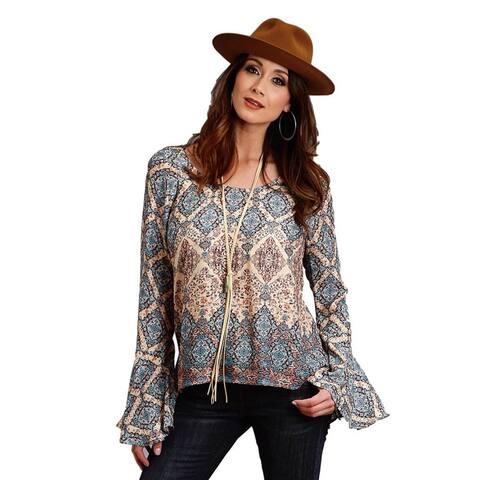 Stetson Western Shirt Womens Long Sleeve Brown