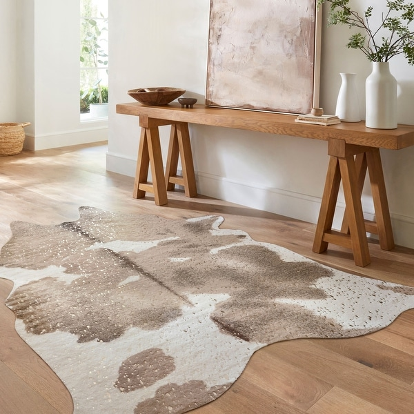 Alexander Home Clayton Faux-cowhide Area Rug. Opens flyout.
