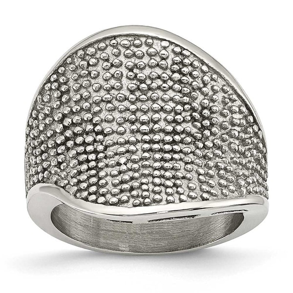Stainless Steel Textured Ring (5 mm)