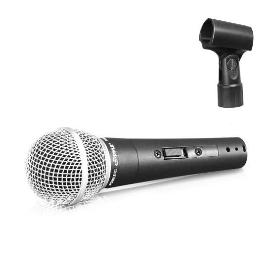 Professional Dynamic Microphone, Unidirectional Handheld Mic (Includes Mic Clip Holder)