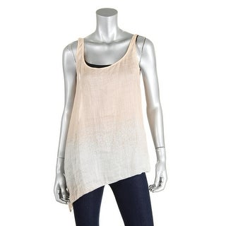 Eileen Fisher Womens Printed Asymmetric Tank Top - S