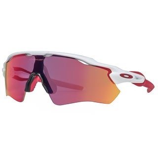 Oakley Radar EV Path OO9208-05 Polished White/Red Prizm Road Shield Sunglasses - polished white/red - 99mm-0mm-128mm
