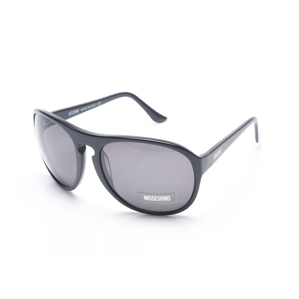 Moschino Women's Oversized Round Frame Sunglasses Black - Small