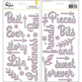 "Felicity Glitter Words 5.5""X11"" 2/Sheets-"