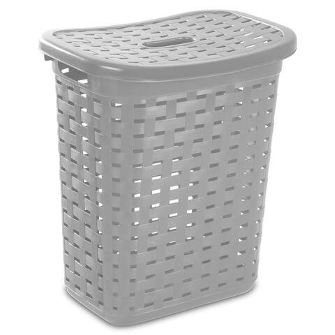 Sterilite 12766A04 Weave Laundry Hamper, Cement