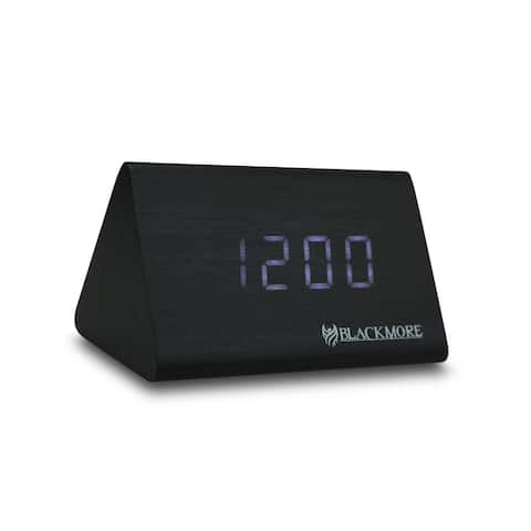LED Alarm Clock with Alternating Time/Temperature Display